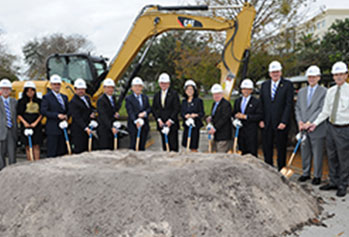 Photo of groundbreaking ceremony. Link to Gifts That Protect Your Assets.